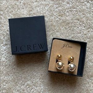 JCrew double sided stud earrings